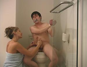 Hot shower handjob #6
