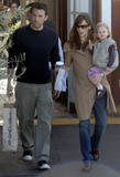 Jennifer Garner and  Ben Affleck head to their car after stopping for coffee
