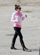 Rose McGowan on a movie set in Griffith Park 29-03-2011 (various Q)